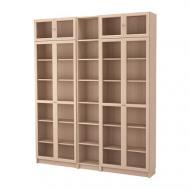 Стеллаж IKEA BILLY OXBERG 200x237x30 см Светло-коричневый (892.499.69)