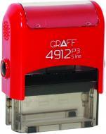 Оснастка для штампа автоматична Р3 Glossy GRF42105-03 червона GRAFF