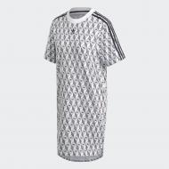 Платье Adidas TEE DRESS FM1069 р. 40 белый