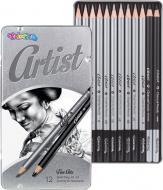 Олівці чорнографітні для ескізів Artist 12 шт. 80118PTR Colorino