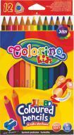 Олівці кольорові Jumbo 12 шт. 15530PTR/1 Colorino