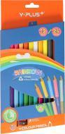 Олівці кольорові двосторонні Rainbow jumbo 12 шт. PC150410 Y PLUS