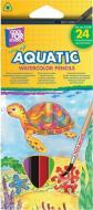 Олівці кольорові акварельні Aquatic Extra Soft 24 шт. CF15158 Cool For School