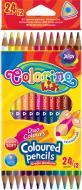 Олівці кольорові двосторонні 12 шт. 33046PTR Colorino