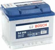 Акумулятор автомобільний Bosch S4 006 60А 12 B «+» ліворуч