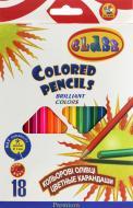 Олівці кольорові Premium 18 шт. 1618 CLASS
