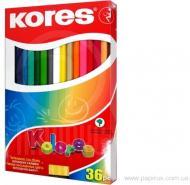 Олівці кольорові 36 шт. з чинкою K93336 Kores
