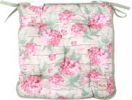 Подушка на стілець Гортензія 40х40 см рожева La Nuit