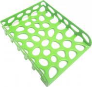 Лоток для паперів горизонтальний яскраво-зелений Л-20334 Tascom