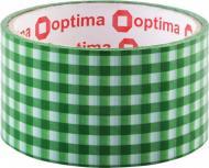Стрічка самоклейка Tartan 48 мм х 20 м зелена Optima