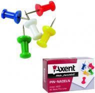 Кнопки-гвоздики Axent цветные 30 шт.