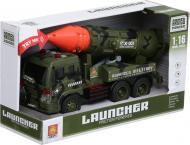 Військова техніка Shantou автомобіль з ракетою темно-зелений 3 1:16