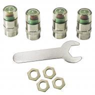Колпачки на нипель Lesko с датчиком + ключ (2601-7055)