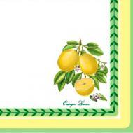 Серветки столові Silken Лимони 33х33 см кольорові 18 шт.