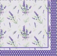 Серветки столові Silken Лаванда 33х33 см фіолетовий 18 шт.