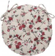 Подушка на стілець Вінтаж Троянди кругла d 40 см La Nuit