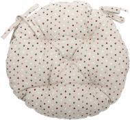 Подушка на стілець Вінтаж Горошки кругла d 40 см La Nuit