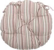Подушка на стілець Вінтаж Смужка кругла d 40 см La Nuit
