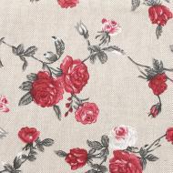 Доріжка (ранер) Вінтаж Троянди 40x140 см бежевий із червоним La Nuit