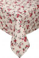 Скатертина Вінтаж Троянди 136x180 см бежевий із червоним La Nuit