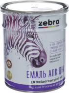 Эмаль ZEBRA алкидная ПФ-116 серия Акварель 812 белый глянец 0,9кг