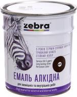 Емаль ZEBRA алкідна ПФ-116 серія Акварель 888 темно-коричневий глянець 0,9кг
