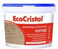 Декоративна штукатурка короїд EcoCristal ІР-53 2 мм 15 кг білий