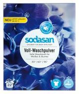 Пральний порошок для машинного та ручного прання Sodasan Heavy Duty з пом'якшувачем води та кисневим вибілювачем 1 кг