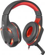 Гарнітура ігрова Defender Warhead G-370 black/red кабель 2 м. LED підсвітка