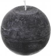 Свічка Куля 10х10 см чорний (7,7) Во-10 Candy Light