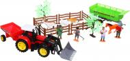 Ігровий набір Shantou фермерський трактор з причепом і фігурками червоний JY238803