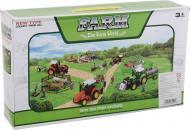 Игровой набор Shantou х9 шт. фермерский трактор с прицепом и фигурками зеленый JY238798