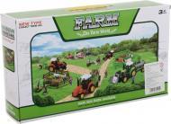 Ігровий набір Shantou х6 шт. фермерський трактор з причепом і фігурками зелений JY238797
