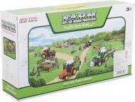 Ігровий набір Shantou х6 шт. фермерський трактор з причепами зелений JY238796