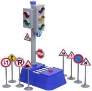 Ігровий набір Shantou міський світлофор 8.5х14х23 см блакитний 666-03Q
