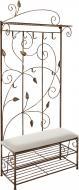 Вешалка для одежды Метал Арт 40511089 пристенная Мимоза коричневый