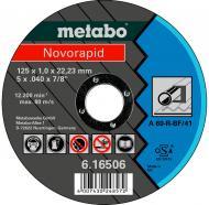 Круг відрізний по нержавіючій сталі Metabo Novorapid A60-R 125x1,0x22,2 мм 616506000