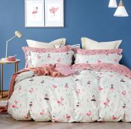 Комплект постельного белья NANTONG белый с розовым Flamingo_