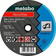 Круг відрізний по нержавіючій сталі Metabo Novoflex A 30 230x3,0x22,2 мм 616477000