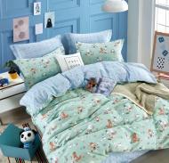 Комплект постельного белья NANTONG голубой с бирюзовым Animals_