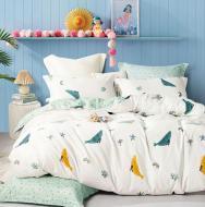 Комплект постельного белья NANTONG 1,5 белый с бирюзовым Whales_