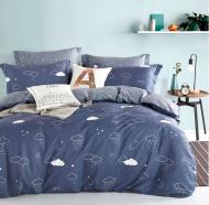 Комплект постельного белья NANTONG 1,5 синий с серым Sky_