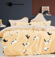 Комплект постельного белья NANTONG 1,5 оранжевый Orange Cats_
