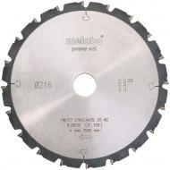 Пиляльний диск Metabo Power cut HW/CT 20 WZ 5°n 216x30x1.8 Z20 628230000