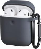 Чохол для навушників 2E для Apple AirPods Pure Color Silicone 3.0 мм Carbon gray (2E-AIR-PODS-IBPCS-3-CGR)