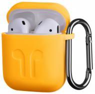Чехол для наушников 2E для Apple AirPods Pure Color Silicone Imprint 1.5 мм yellow (2E-AIR-PODS-IBSI-1.5-YW)