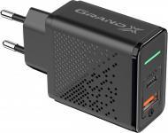 Зарядний пристрій Grand-X Fast Сharge 6-в-1 PD 3.0, QС3.0, AFC, SCP, FCP, VOOC 1 USB + 1 TypeC 18 Вт CH-880