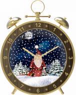Декорація новорічна Сувенір Будильник що сніжить 61 см ZZ050ST4-C