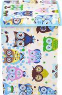 Ящик для іграшок Українська оселя 35x35x55 см із кришкою Сови HTKKЕL-3535-005