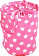 Корзина для іграшок Українська оселя 40x50 см Еліт Зірки на рожевому HTKIЕ-4050-003